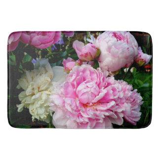 Tapis De Bain Pivoines roses et blanches