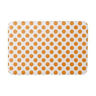 Tapis De Bain Pois orange