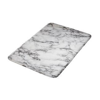 Tapis De Bain regard de marbre blanc et noir