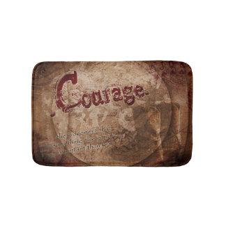 Tapis de bain rustique de citation de courage