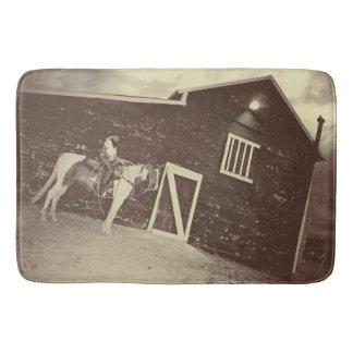 Tapis de bain rustique et vrai de cow-girl