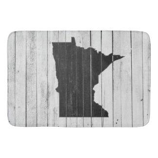 Tapis De Bain Tapis noir et blanc en bois rustique du Minnesota