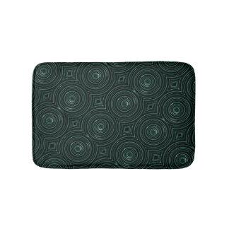 Tapis De Bain Tapis noir et vert