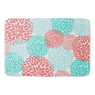 Tapis de bain turquoise de corail de décor de