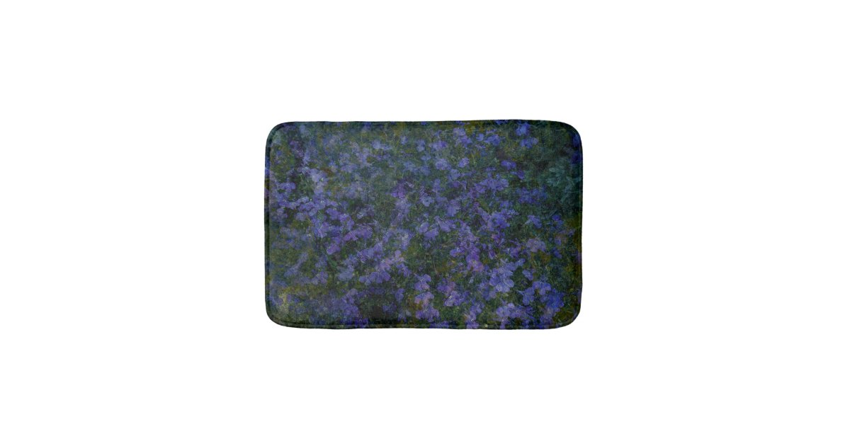 tapis de bain violet bleu de jardin zazzle. Black Bedroom Furniture Sets. Home Design Ideas