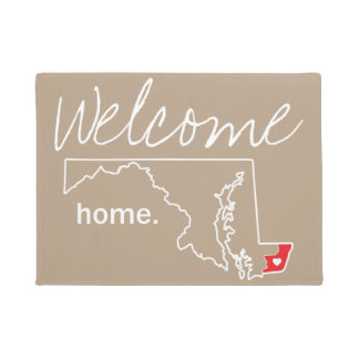 Tapis de porte à la maison du comté du Maryland -