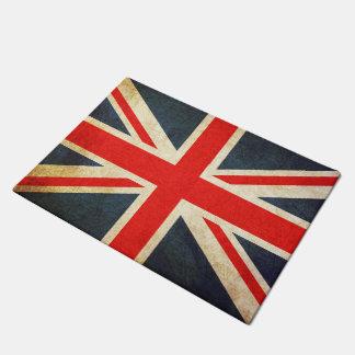 Tapis de porte britannique vintage de drapeau