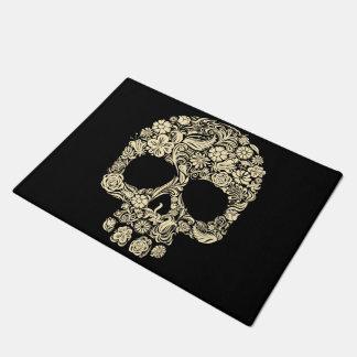 Tapis de porte floral de crâne de sucre