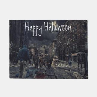 Tapis de porte heureux d'apocalypse de zombi de