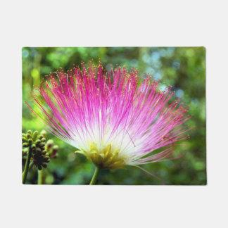 Tapis de porte persan de fleur d'arbre en soie