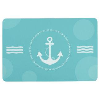 Tapis De Sol Bleu-clair moderne nautique d'ancre