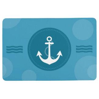 Tapis De Sol Bleu moderne nautique d'ancre