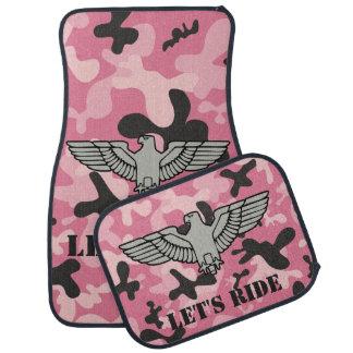 Tapis De Sol Camouflage noir rose personnalisé Camo d'Eagle