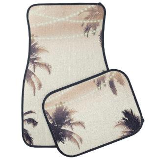 Tapis De Sol Charme pour la plage rêveur crème de palmiers et