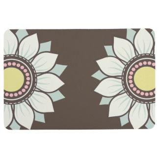 Tapis De Sol Motif floral moderne de fleurs