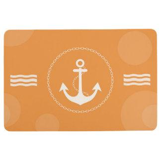 Tapis De Sol Orange moderne nautique d'ancre