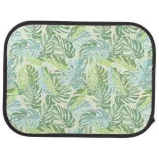Tapis De Sol Palmettes tropicales en pastel