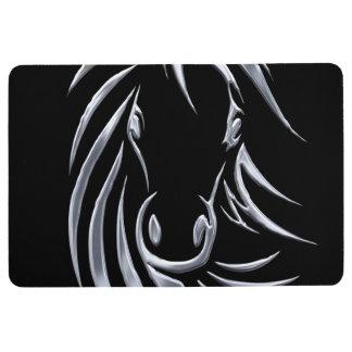 Tapis De Sol Tête de cheval argentée