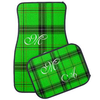 Tapis De Sol Tissu vert écossais de plaid de tartan avec le