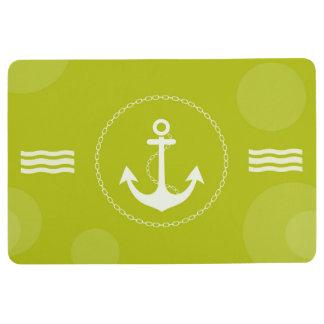 Tapis De Sol Vert de chaux moderne nautique d'ancre