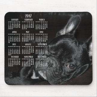 Tapis de souris 2017 de calendrier de bouledogue