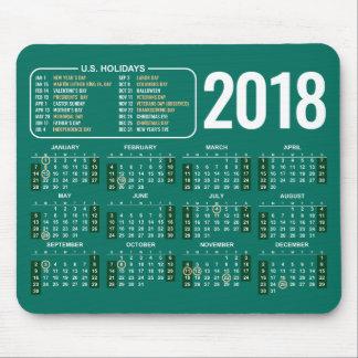 Tapis De Souris 2018 calendrier Mousepad avec des vacances des USA