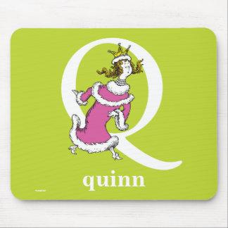 Tapis De Souris ABC de Dr. Seuss's : Lettre Q - Le blanc |
