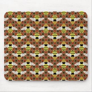 Tapis De Souris Abeilles et motif de nid d'abeilles