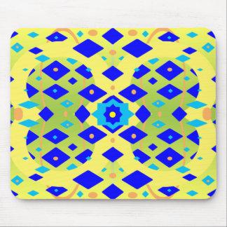 Tapis De Souris Abrégé sur jaune et bleu diamants
