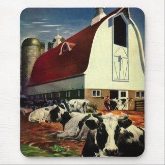 Tapis De Souris Affaires vintages, vaches à lait du Holstein à