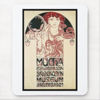 Tapis De Souris Affiche vintage de Brooklyn d'exposition de Mucha
