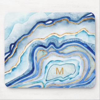 Tapis De Souris Agate II de cobalt