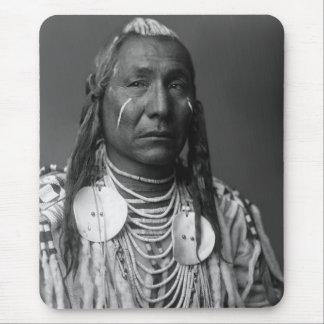 Tapis De Souris Aile rouge (homme de Natif américain)