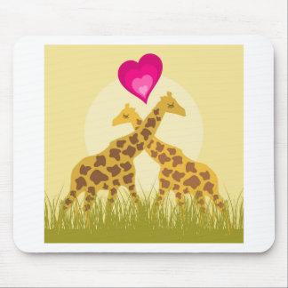 Tapis De Souris Aimez une girafe