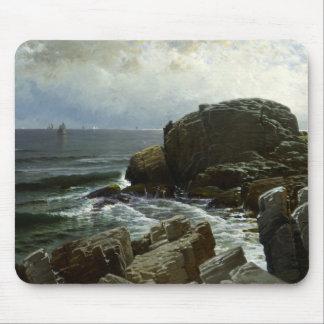 Tapis De Souris Alfred Thompson Bricher - Castle rock, Marblehead