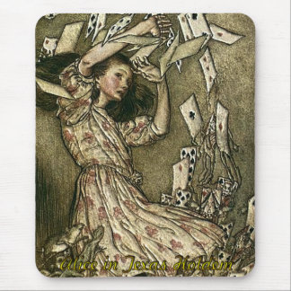 Tapis De Souris Alice dans le tisonnier du Texas Holdem