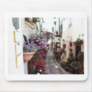 Tapis De Souris Allées de Windows, de balcon et de fleur dans