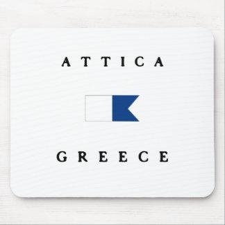 Tapis De Souris Alpha drapeau de piqué d'Attique Grèce