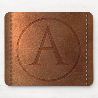Tapis De Souris alphabet cuir lettre A