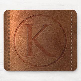 Tapis De Souris alphabet cuir lettre K