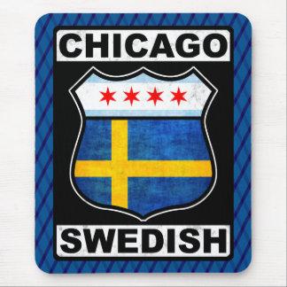 Tapis de souris américain suédois de Chicago