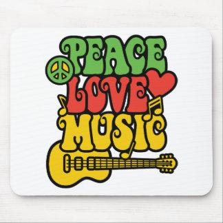 Tapis De Souris Amour et musique de paix de Rasta