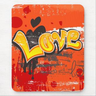 Tapis De Souris Amour orange