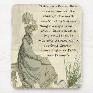 Tapis De Souris Amoureux des livres de Jane Austen