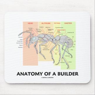 Tapis De Souris Anatomie d'un constructeur (anatomie de fourmi de