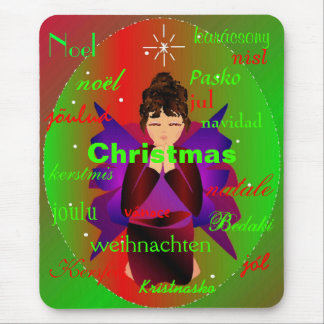 """Tapis De Souris """"Ange de partout dans le monde II Mousepad de Noël"""