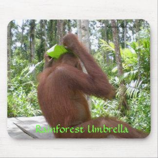 Tapis De Souris Animaux de jungle de parapluie de forêt tropicale
