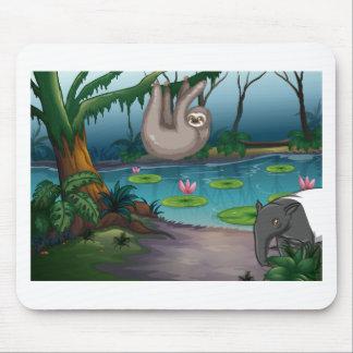 Tapis De Souris Animaux et étang