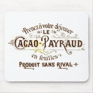 Tapis De Souris Annonce vintage de cacao de chocolat (rétro grunge