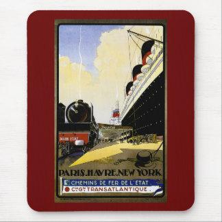 Tapis De Souris Annonce vintage de voyage de cie Gie